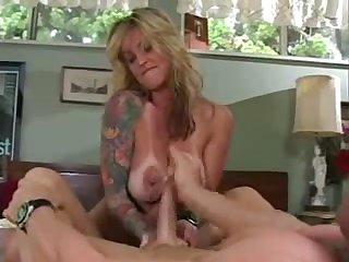 big tit tattooed milf getting it good