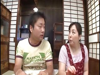 Young bronze Asian man pounds his sex mommy in a very careful way