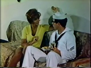 In the retro sex movie American sailors fuck babes at ports