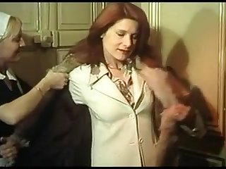 This red-haired sex bitch entertains in the French private flat with her Casanova