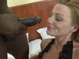 Fair-haired porn mom in black combination enjoys back door screwing
