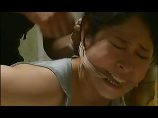 Bound Japanese girl fuck hard in the ass