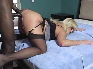 Секс раком с очаровательной блондинкой